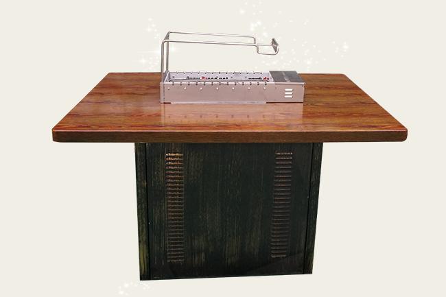 自动烧烤桌,自动翻转烧烤桌,自助火锅烧烤一体桌,