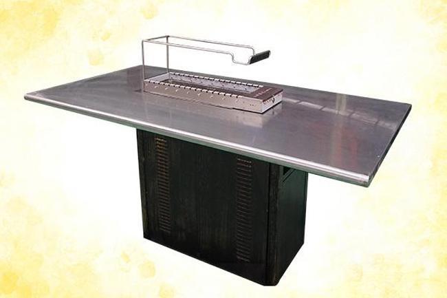 烧烤桌,自动烧烤桌,自动翻转烧烤桌,