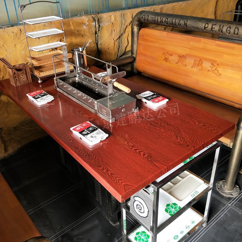 很久以前烧烤加盟店专用钢管座椅