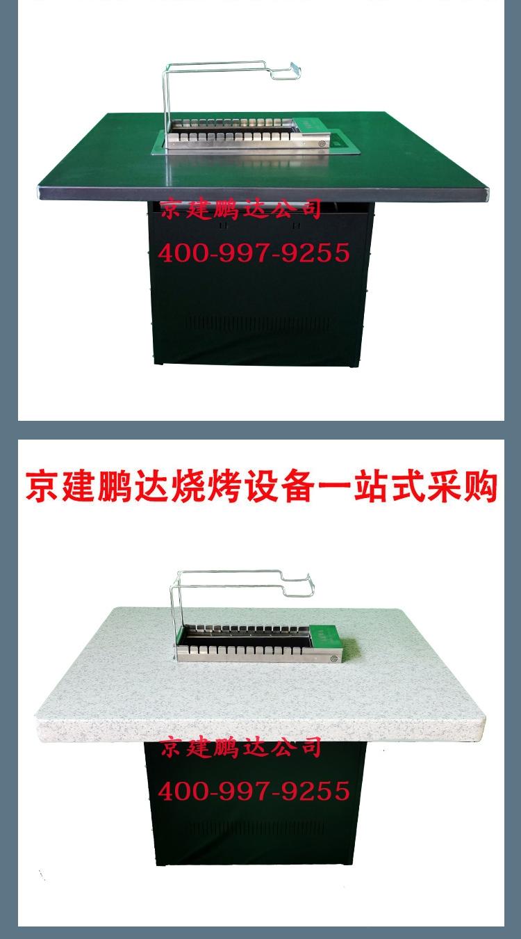 很久以前原创做旧无烟自动烧烤桌+无烟烧烤店软包卡座,京建鹏达厂家。