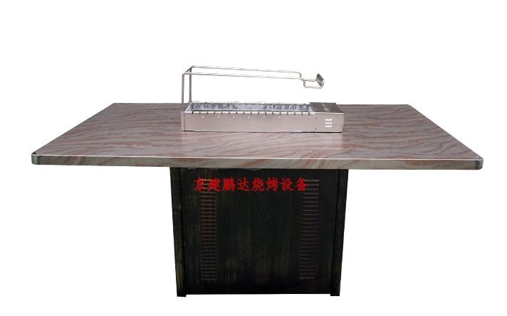 不锈钢大理石纹自动烧烤桌